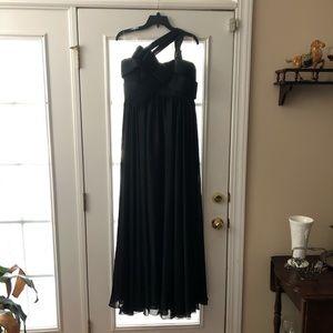 Black Chiffon Evening Gown